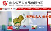 山东省万兴食品有限公司网站建设